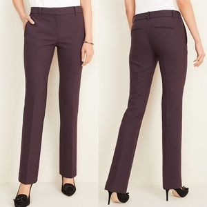 Ann Taylor NWOT Purple Tweed Straight Crop Pant